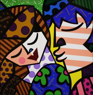 Delicious Embellished Limited Edition Print - Romero Britto