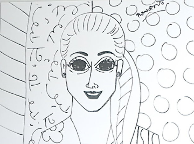 Beautiful Allarra Drawing 2000 32x35