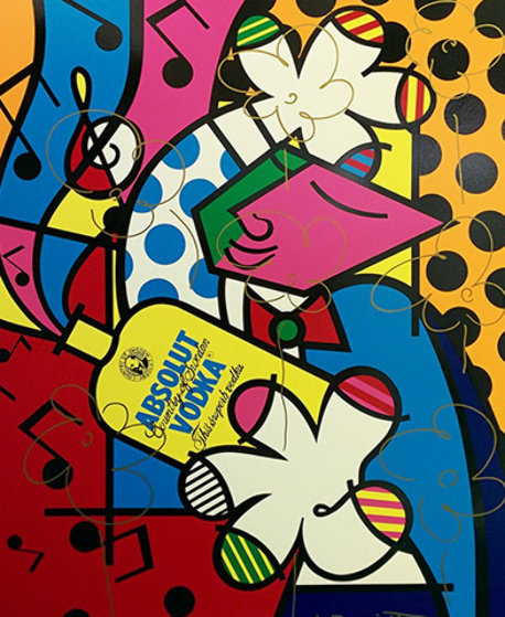 Absolut Britto II AP 1993 Embellished