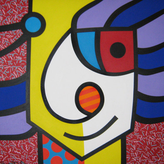 German Guy 1992 42x42 Original Painting by Romero Britto
