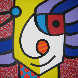 German Guy 1992 42x42 Original Painting by Romero Britto - 0