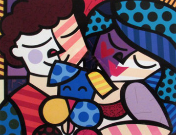 Three of Us 2005 Limited Edition Print - Romero Britto