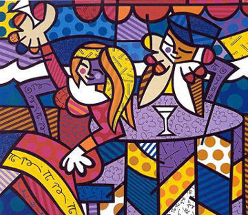 Doing Lunch AP 2001 Limited Edition Print - Romero Britto