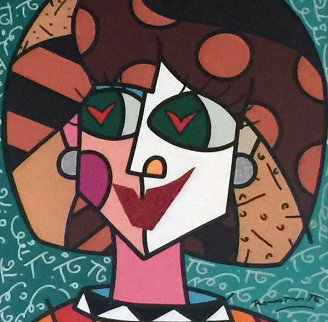 In Love 2007 31x31 Original Painting - Romero Britto
