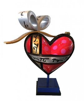 Heart Mixed Media Sculpture 12 in Sculpture - Romero Britto