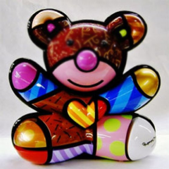 Teddy Bear AP Wood Sculpture 2005 17 in