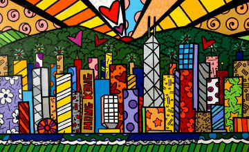 Good Morning Hong Kong AP 2014 Limited Edition Print - Romero Britto