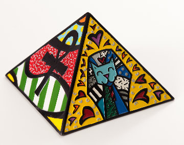 Pyramid Resin Sculpture 2000 17 in Sculpture by Romero Britto