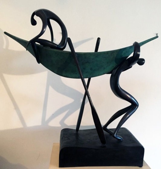 Looking For Deep Water Bronze Sculpture 1992