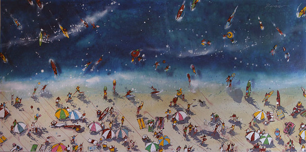 Day At the Beach 2001 48x96 Mural