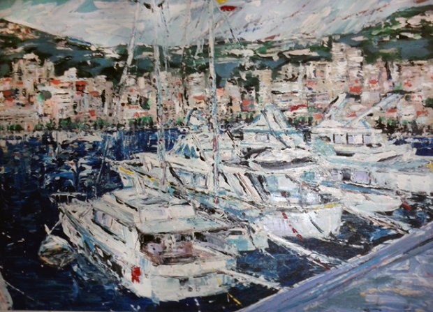 Newport Beach Harbor 1985 30x40 California