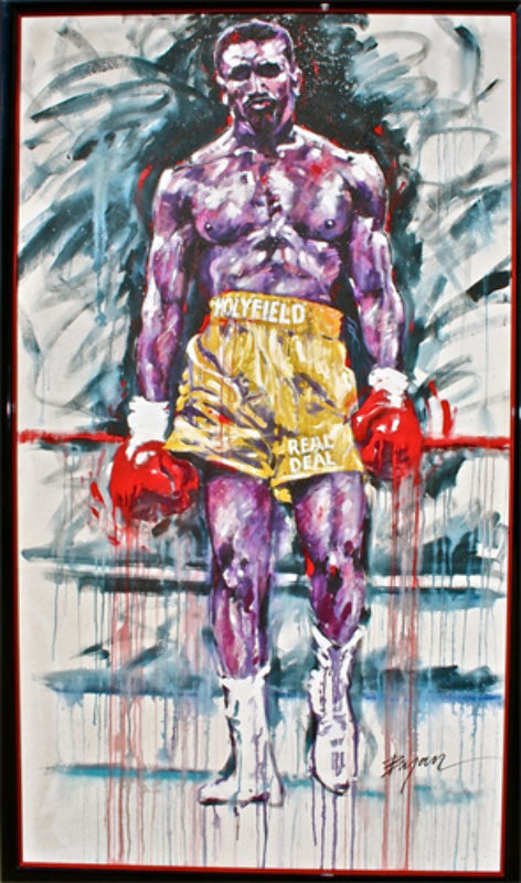Holyfield, the Real Deal 1993 88x53 Mural