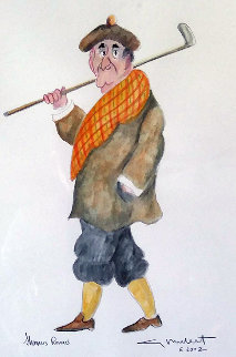 Shamus Remus Watercolor  2002 25x20 Watercolor - Guy Buffet