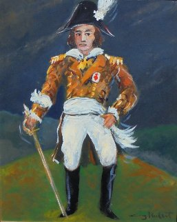 Napoleon Le Chouan  1989 24x26 Original Painting - Guy Buffet
