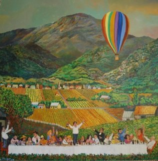 Napa Valley 1981 40x40 Original Painting - Guy Buffet