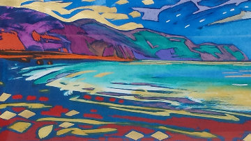 Beyond These Shores 1998 Embellished Limited Edition Print - Simon Bull
