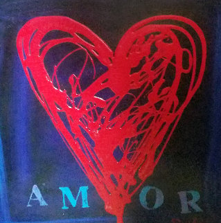 Mom Amor VIII 18x24 Original Painting - Simon Bull