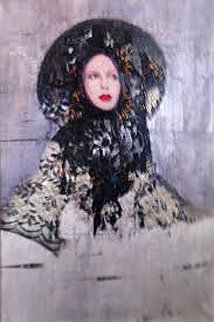Lace 2001 36x46 Original Painting - Richard Burlet