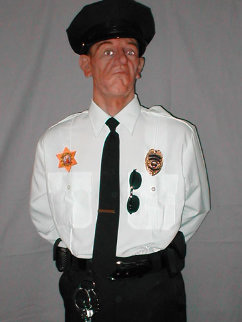 Sylvester (Security Guard) Life Size Sculpture - Rob Burman