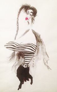 Well-Endowed 1980 Watercolor - Tim Burton
