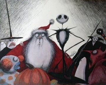 Nightmare Before Christmas 1993 Limited Edition Print - Tim Burton