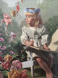 Naming of the Flowers Embellished 1997 Limited Edition Print - Bob Byerley