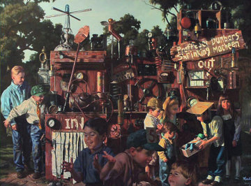 Incredible Shrinking Machine Embellished 1997 Limited Edition Print - Bob Byerley