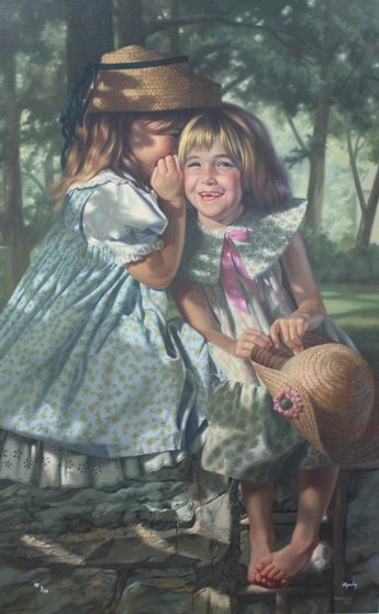 Giggles And Whispers AP 2000 Limited Edition Print - Bob Byerley