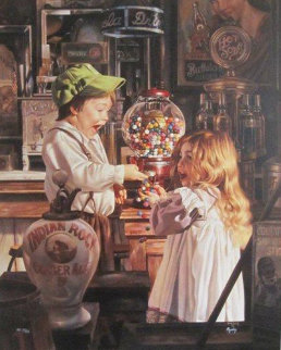 Jackpot  1993 Embellished  Limited Edition Print - Bob Byerley
