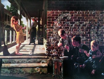 A Fascination 1994 Embellished Limited Edition Print - Bob Byerley
