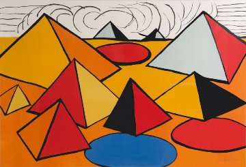 Pyramids Limited Edition Print by Alexander Calder