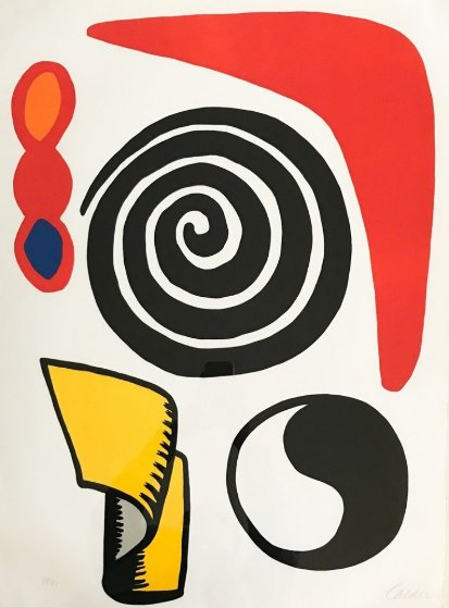 Circle And Spiral 1973 Limited Edition Print by Alexander Calder