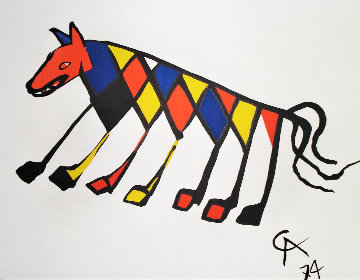Flying Colors Collection For Braniff Airlines, Suite of 5  1974 Limited Edition Print by Alexander Calder