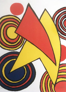 Untitled, Composition Pour Gallery Maeght Limited Edition Print - Alexander Calder