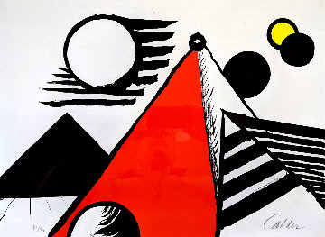 Pyramid Rouge 1969 Limited Edition Print - Alexander Calder