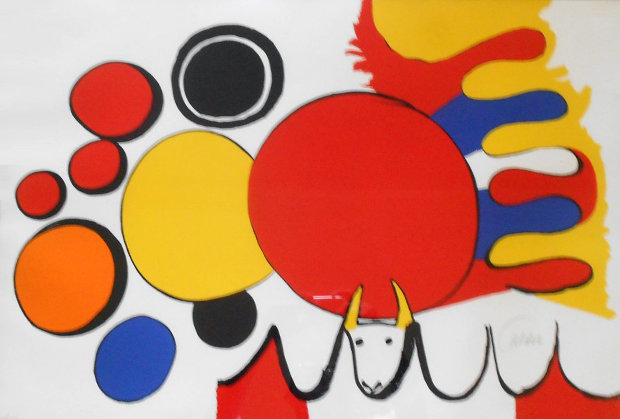 Composition With Circles And Bull