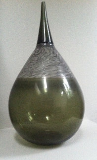 Glass Tear Drop Vase Unique Sculpture Sculpture - Nancy Callan