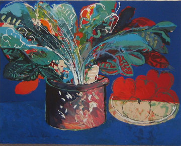 Still Life in Blue Limited Edition Print - Calman Shemi