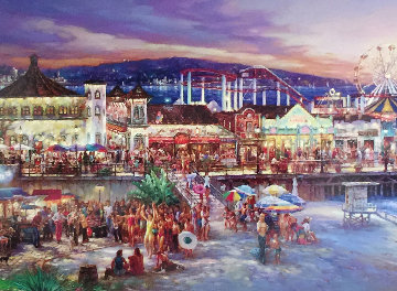 Santa Monica  Limited Edition Print - Cao Yong