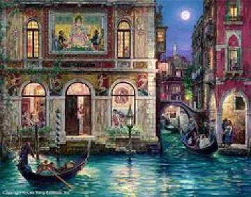 Memories of Venice 2002 Embellished W Remarque Limited Edition Print - Cao Yong