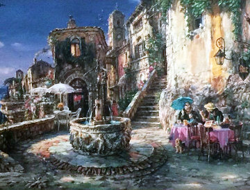 Mediterranean Sunrise 2004 Embellished Limited Edition Print - Cao Yong