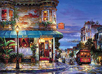Hyde Street Unique Embellished San Francisco  Limited Edition Print - Cao Yong