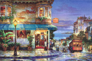 Hyde Street Embellished Limited Edition Print - Cao Yong