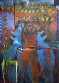 Doguitoff Dogs 1988 65x42 Original Painting - Carlos Loarca