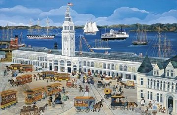 Port of San Francisco/Ferry House AP 2002 Limited Edition Print - Carol Dyer