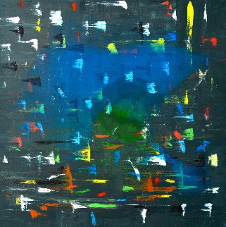 Still There 2011 48x48 Original Painting - Antonio Carreno