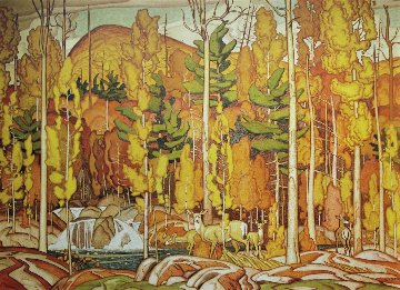 Autumn Decoration AP 1980  Limited Edition Print - A.J. Casson