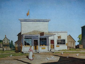 Village Store AP 1980 Limited Edition Print - A.J. Casson