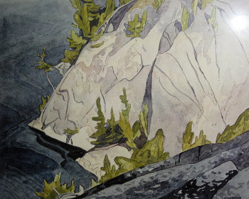 Cliffs Lake Waginaw Limited Edition Print - A.J. Casson
