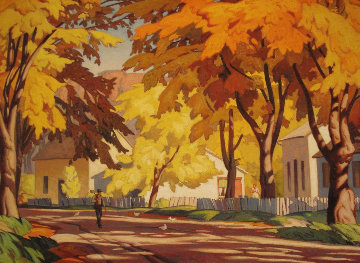 A Street in Glen Williams 1980 Limited Edition Print - A.J. Casson